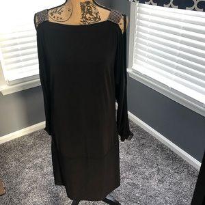 Black Evening Dress w/Rhinestone Details